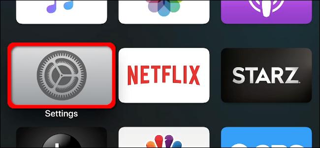 Application des paramètres de l'Apple TV
