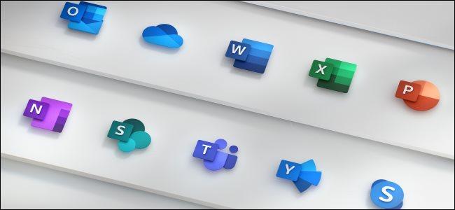 Les nouvelles icônes Office de Microsoft