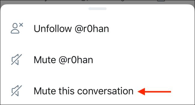 """Pour désactiver les tweets, cliquez sur """"Coupez le son de cette conversation."""""""
