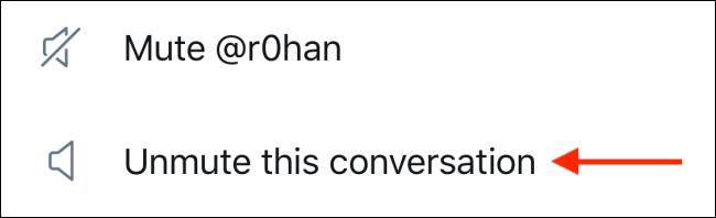 """Activez un fil Twitter en cliquant sur """"Activer le son de cette conversation."""""""