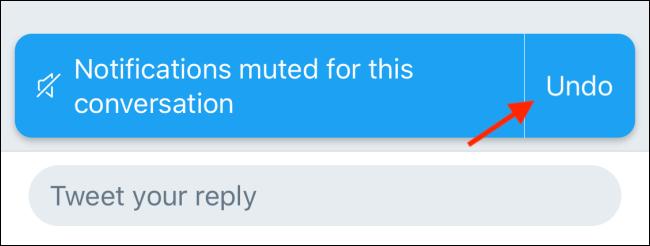"""Cliquez sur """"annuler"""" pour réactiver un tweet."""