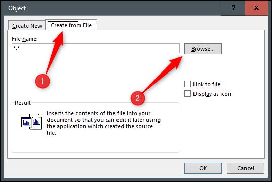 Créez à partir d'un fichier et recherchez votre fichier pdf dans l'explorateur
