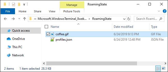 Fournir une image d'arrière-plan pour le terminal Windows