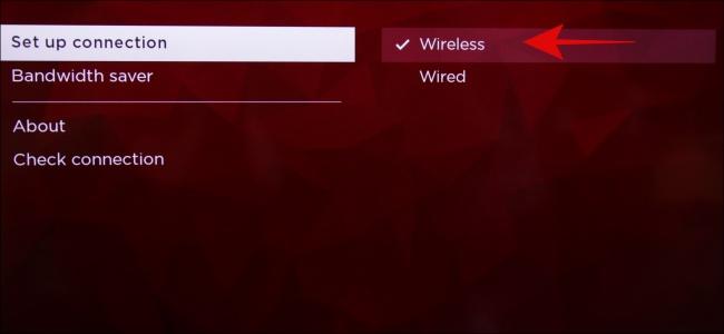 Configuration d'Internet sans fil Roku