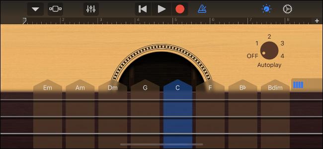 Guitare intelligente GarageBand