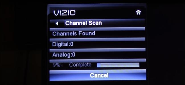 Balayage des chaînes sur un téléviseur de la série VIZIO E