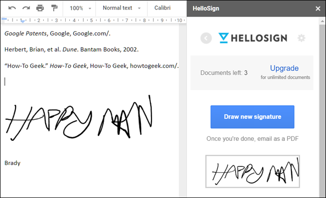 Module complémentaire HelloSign