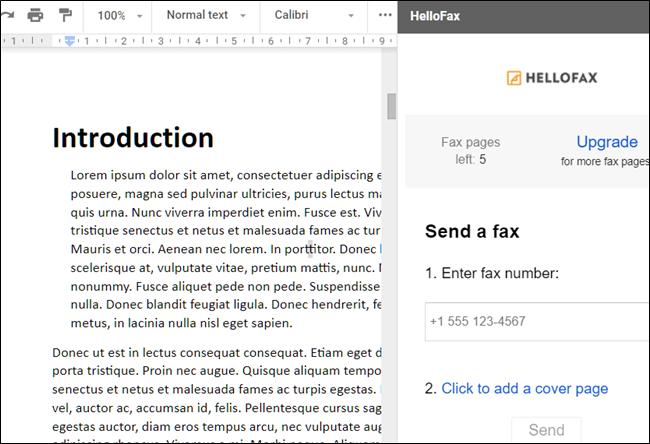 Module complémentaire HelloFax