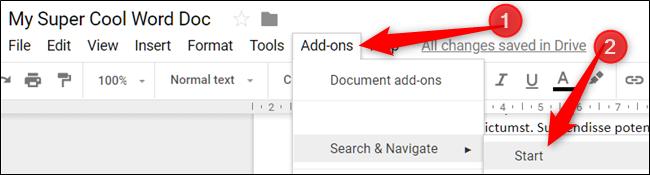 Ouvrez le menu Modules complémentaires, pointez sur un module complémentaire, puis cliquez sur Démarrer ou Afficher
