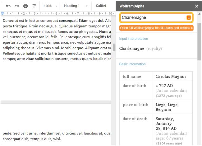 Module complémentaire WolframAlpha