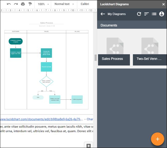 Module complémentaire de diagrammes Lucidchart