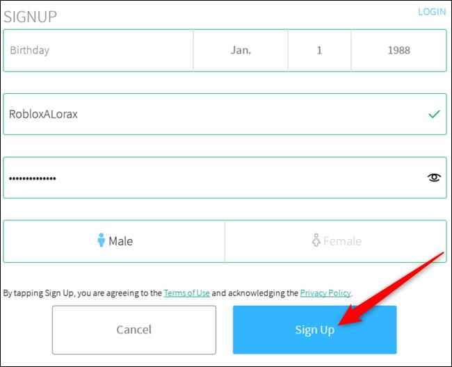 Remplissez le formulaire pour créer un compte