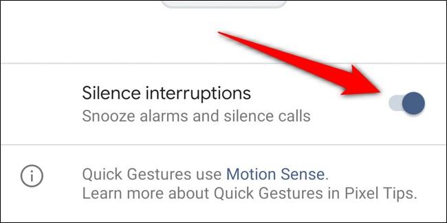 Google Pixel 4 désactiver les interruptions de silence