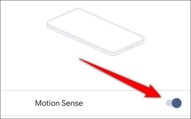 Google Pixel 4 Désactive Motion Sense