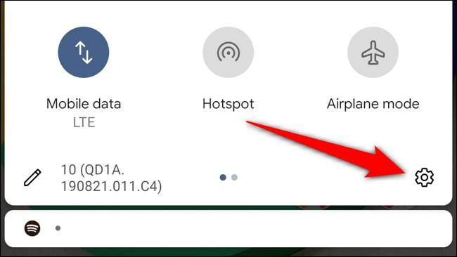 Icône d'engrenage Google Pixel 4 Tap