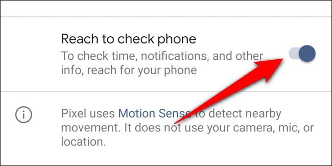 Google Pixel 4 désactiver Reach pour vérifier le téléphone