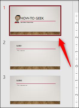 Diapositive sélectionnée dans PowerPoint