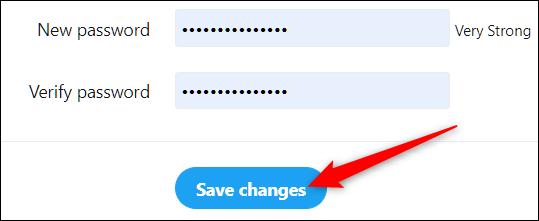 """Cliquez sur """"Sauvegarder les modifications."""""""