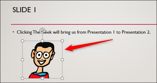 Sélectionnez The Geek pour insérer un hyperlien