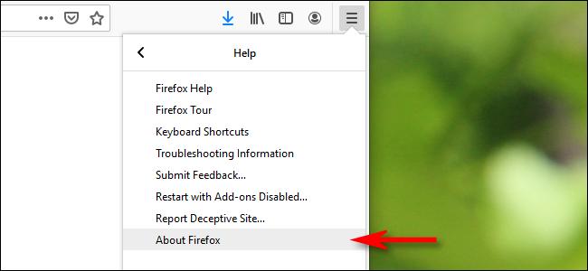 """Cliquez sur """"À propos de Firefox."""""""