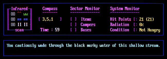 """Le fonctionnement du jeu de porte BBS: """"Overkill II."""""""