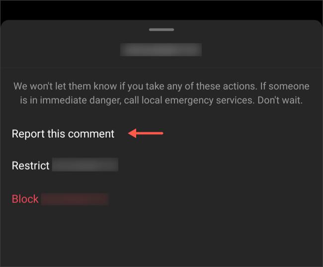 Signaler des commentaires offensants sur Instagram