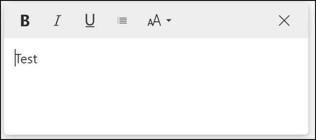 Une note sur les collections Microsoft Edge avec des options de mise en forme visibles