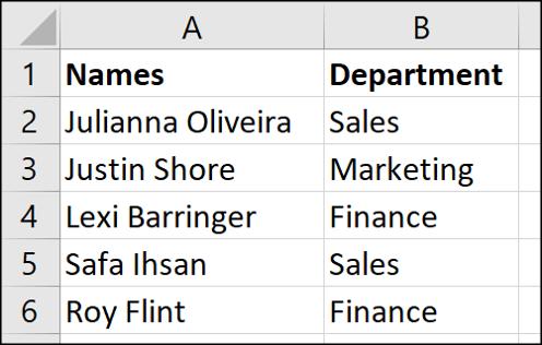 Liste des noms à séparer avec Text to Columns