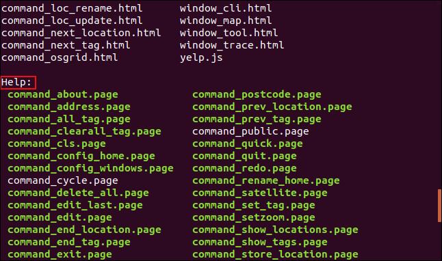 Nom du répertoire affiché par ls avant que le contenu ne soit répertorié.