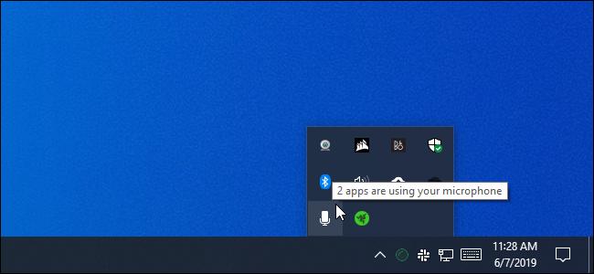 2 applications utilisent le message de votre microphone sous Windows 10