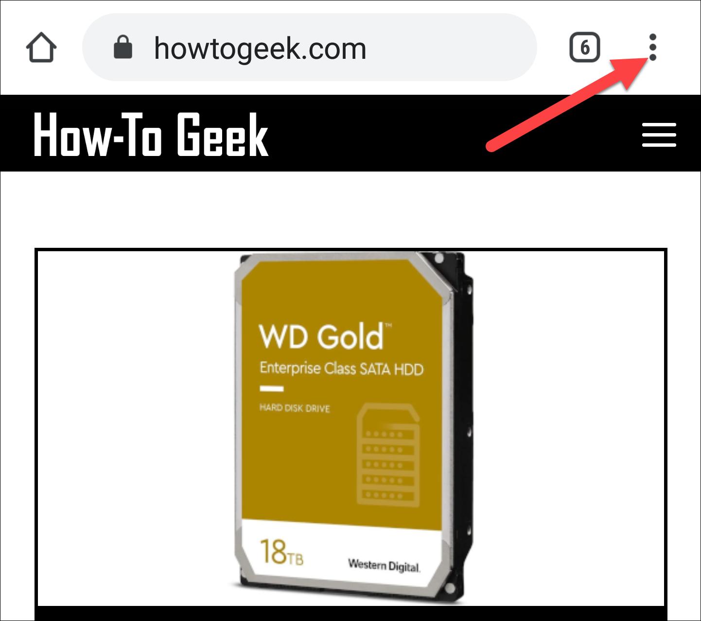 icône du menu du navigateur