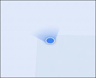 L'icône de localisation bleue dans Google Maps