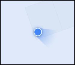 La localisation d'un appareil Android dans Google Maps, avec une boussole calibrée
