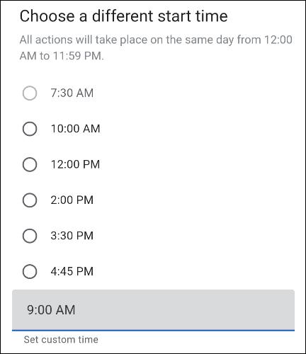 modifier le créneau horaire