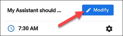 appuyez sur le bouton modifier