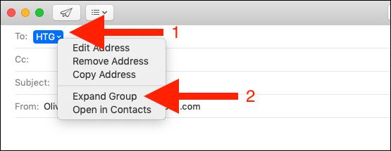 Cliquez avec le bouton droit sur le groupe.  Cliquez sur développer le groupe