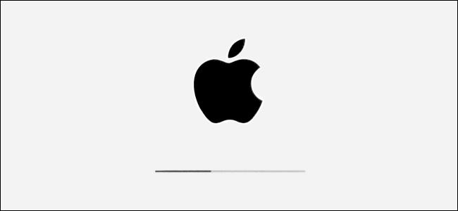 Le logo Apple et la barre de progression de l'installation dans iPadOS.
