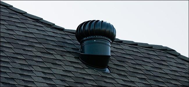 Ventilation d'air sur un toit.