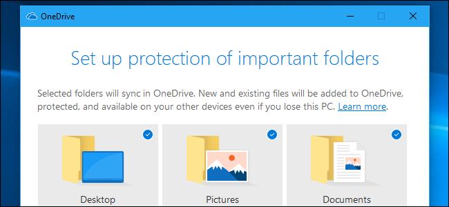 Configuration de la protection des dossiers sur OneDrive.