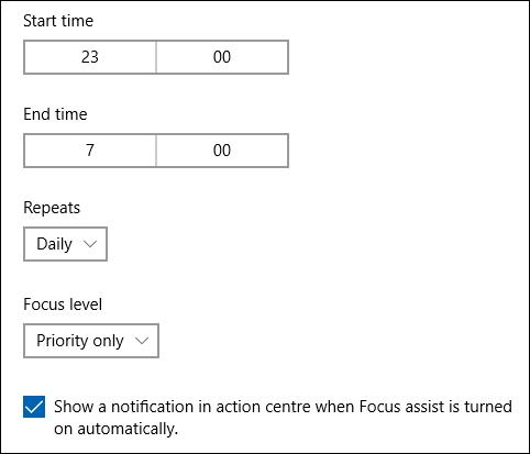"""Les options de temps dans le """"Pendant ces périodes"""" règle."""