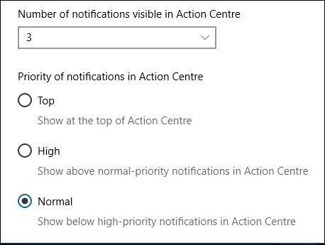 Les options du centre d'action pour Outlook.