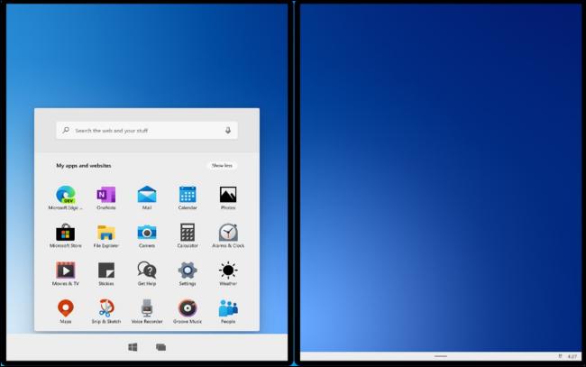 Windows 10X dans le nouvel émulateur de Microsoft