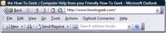 Barre d'outils Web