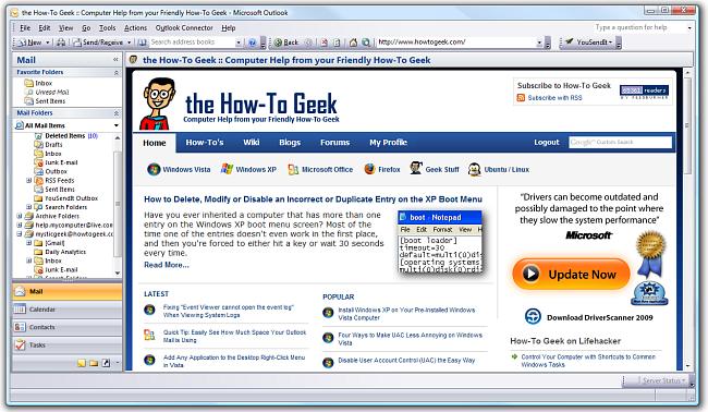 Outlook en vue Web
