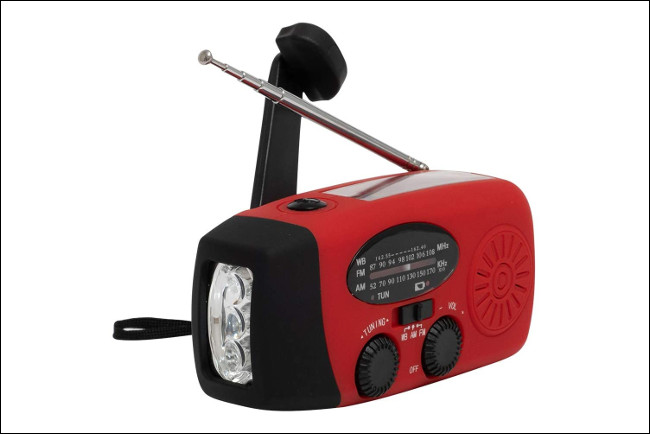 Radio à manivelle portable Aivica / chargeur USB