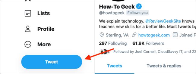 """Cliquez sur """"Tweet."""""""