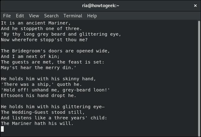 modification d'un fichier dans vi dans une fenêtre de terminal