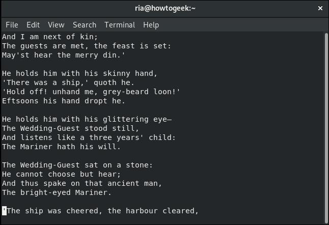 fichier d'édition restauré dans vi dans une fenêtre de terminal