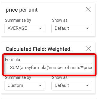 Dans la case prévue à cet effet, saisissez une formule personnalisée pour vos données