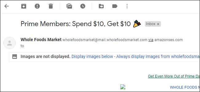 Possibilité de charger des images pour un e-mail individuel dans Gmail